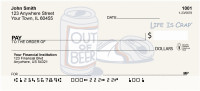That's Why There's Beer Life Is Crap Personal Checks | LIC-12