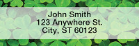 More Clovers Narrow Address Labels | LRTVL-14
