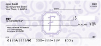 Bubbly Monogram F Personal Checks | MONO-05F
