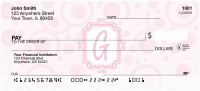 Bubbly Monogram G Personal Checks | MONO-05G