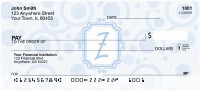 Bubbly Monogram Z Personal Checks | MONO-05Z