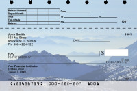 Mountain Views Top Stub Personal Checks  | TSEVC-17