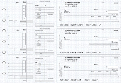 Blue Knit Payroll Invoice Business Checks | BU3-7BLU02-PIN