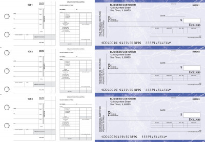 Blue Marble Payroll Invoice Business Checks | BU3-7LMA01-PIN