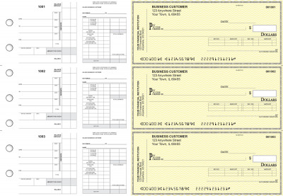 Yellow Safety Payroll Invoice Business Checks | BU3-7YEL01-PIN