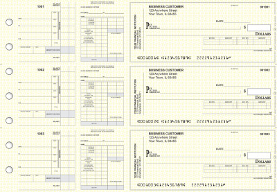Yellow Knit Payroll Invoice Business Checks | BU3-7YEL02-PIN