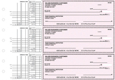Pink Safety Multi Purpose Business Checks | BU3-PSF01-DEP
