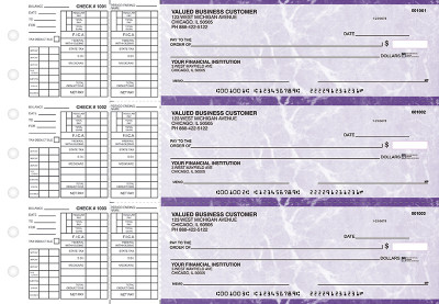 Purple Marble Payroll Business Checks | BU3-UMA01-PAY