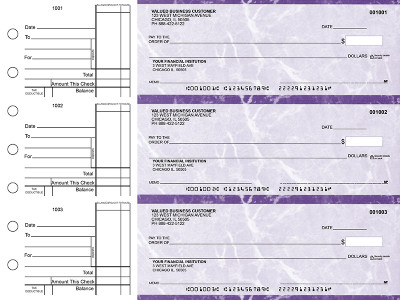 Purple Marble Standard Business Checks | BU3-UMA01-STA