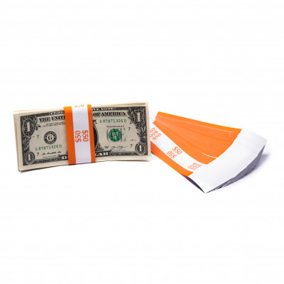 Orange Barred $50 Currency Bands | CBB-002