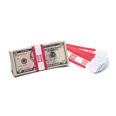 Red Barred $500 Currency Bands | CBB-006