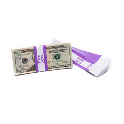 Purple Barred $2,000 Currency Bands | CBB-008