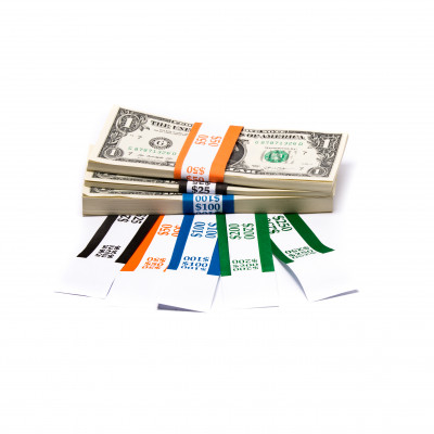 Color-Coded Low Dollar Currency Band Set | CBB-012