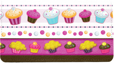 Colorful Cupcakes Leather Cover | CDP-EVC44