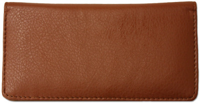 Brown Textured Leather Checkbook Cover | CLP-BRN05