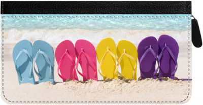 Flip Flop Zippered Checkbook Cover | CLZ-BEA01