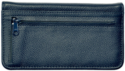 Blue Leather Zippered Checkbook Cover | CLZ-BLU01