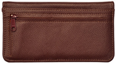 Burgundy Leather Zippered Checkbook Cover | CLZ-BUR01