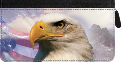 American Eagle Pride Zippered Checkbook Cover | CLZ-EVC21