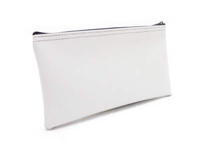 White Zipper Bank Bag, 5.5