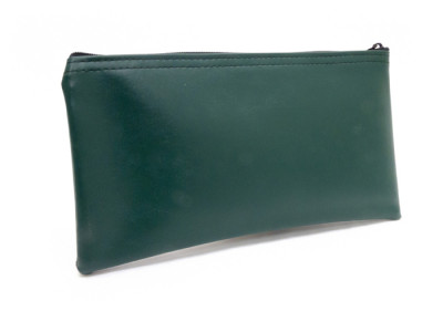 Forest Green Zipper Bank Bag, 5.5