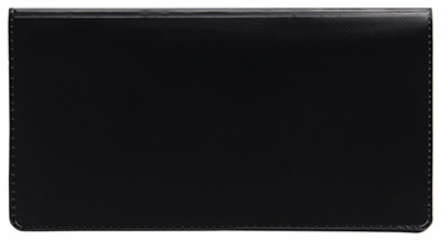 Black Vinyl Side Tear Checkbook Cover | CVS-BLA01