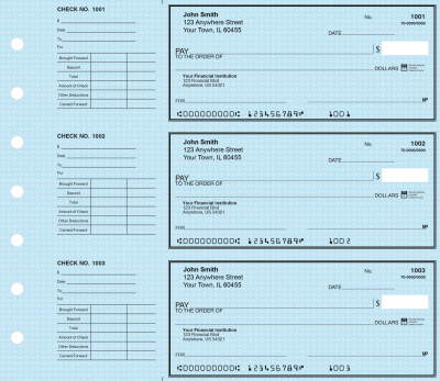 Blue Safety Deskset Personal Checks | DS-BLS01