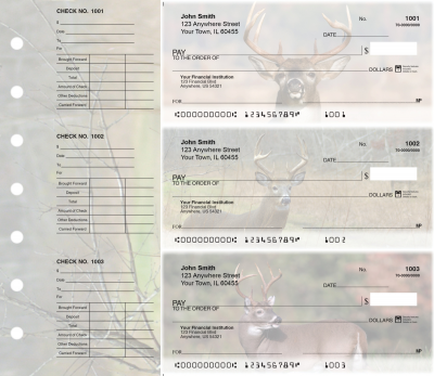 Big Horned Buck Designer Deskset Checks | DS-CDS01