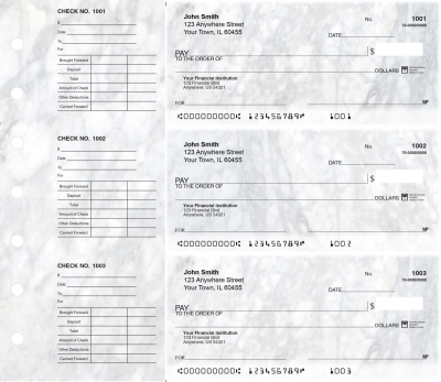 Granite Designer Deskset Checks | DS-CDS12