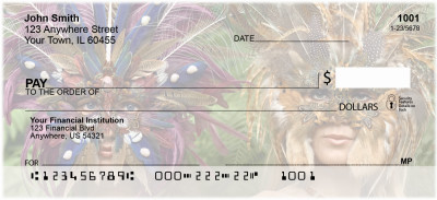Feathered Masks Personal Checks | EVC-54