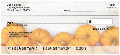 Grateful Pumpkin Personal Checks | FUN-013