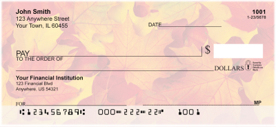 Fall Leaves Personal Checks | FUN-76