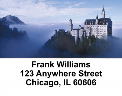 European Castles Address Labels | LBCAS-01