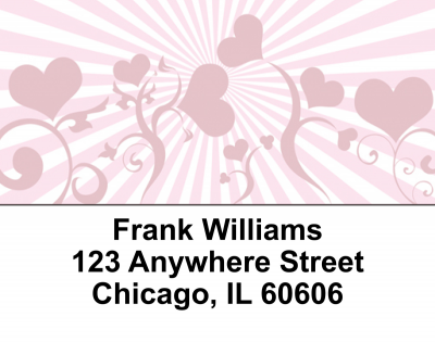 Hearts Delight Address Labels | LBEVC-08