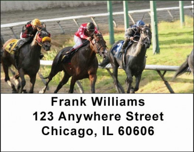 Horse Racing Address Labels | LBSPO-08