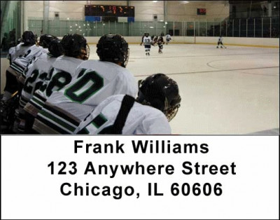 Hockey Address Labels | LBSPO-10