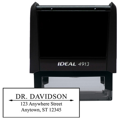 Rectangle Artistic Designer Stamp | STA-LAS-DR01