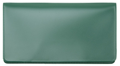 Forest Green Vinyl Checkbook Cover | VCB-GRN01
