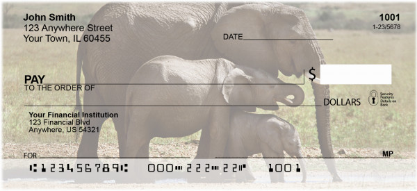 Elephants Personal Checks | ANI-22