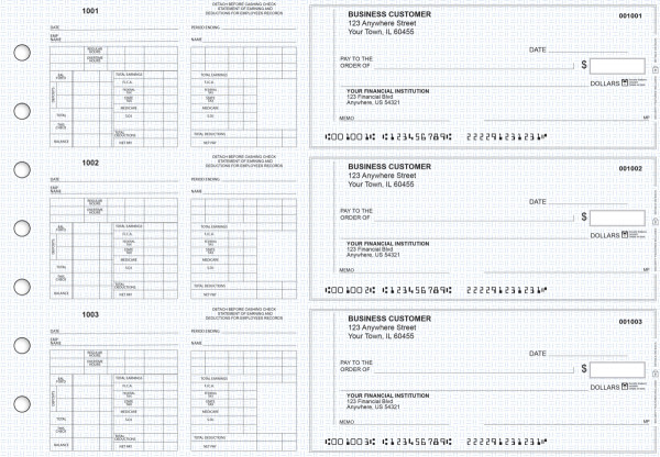 Blue Knit Multi-Purpose Counter Signature Business Checks | BU3-7BLU02-MPC