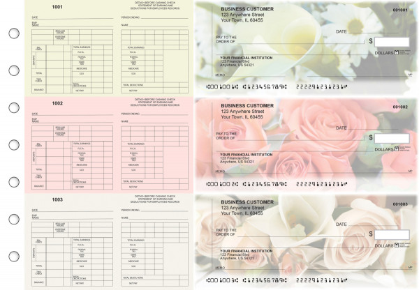 Florist Multi-Purpose Counter Signature Business Checks | BU3-7CDS11-MPC