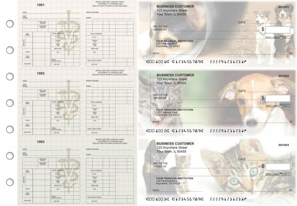 Veterinarian Multi-Purpose Counter Signature Business Checks | BU3-7CDS14-MPC