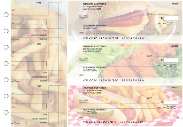 American Cuisine Standard Counter Signature Business Checks | BU3-CDS01-SCS
