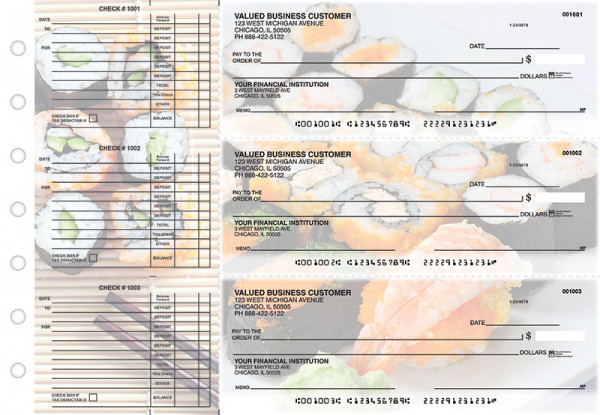 Japanese Cuisine Accounts Payable Designer Business Checks | BU3-CDS06-DED