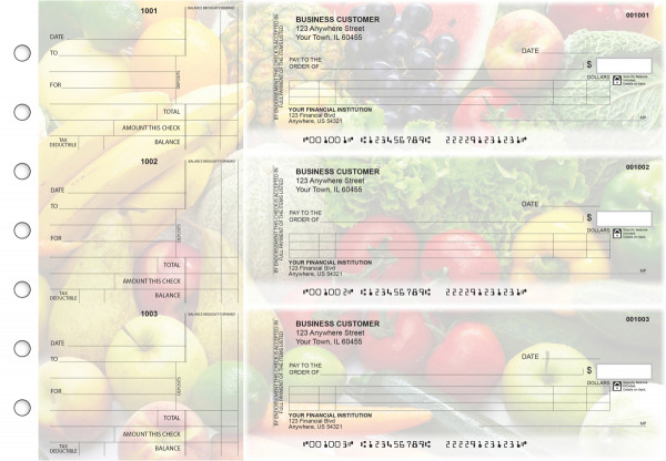 Fresh Produce Itemized Counter Signature Business Checks | BU3-CDS09-ICS