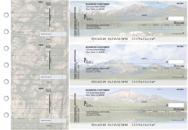 Scenic Mountains Invoice Business Checks | BU3-CDS29-INV