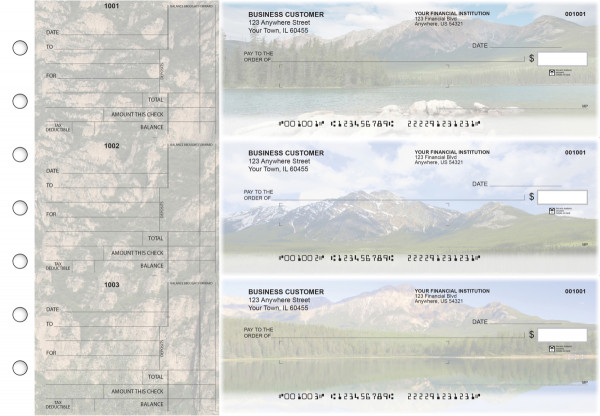 Scenic Mountains Standard Mailer Business Checks | BU3-CDS29-SML