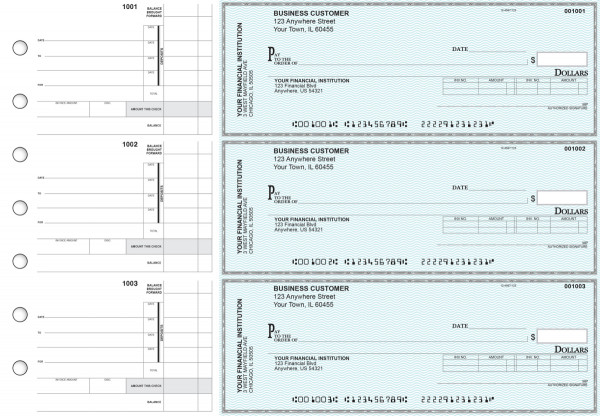 Teal Safety Invoice Business Checks | BU3-ESF01-INV