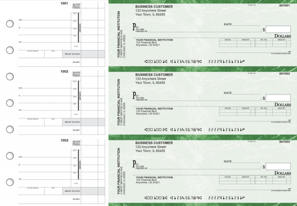 Green Marble Invoice Business Checks | BU3-GMA01-INV