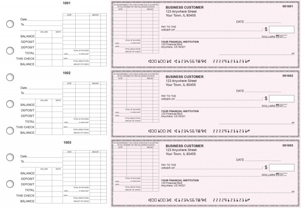Pink Safety General Itemized Invoice Business Checks | BU3-PSF01-GII